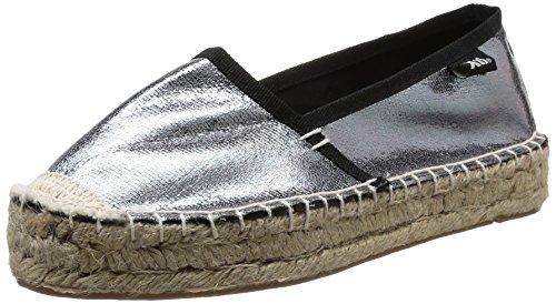 XTI Zapato Sra. Metalizado Plomo, Mujer, 38 EU