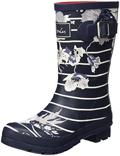 Tom Joule Damen Molly Welly Gummistiefel, Blau (French Navy Posy Stripe), 39 EU (Frauen Gelände-stiefel Alle)