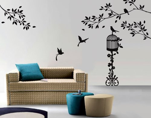 Birds Paradise Wall Sticker Decal  available at amazon for Rs.1259