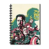 #7: 100yellow Avengers Movie Printed Designer Wire Bound Ruled Paper Sheets Diary-A5 Size (Multi)