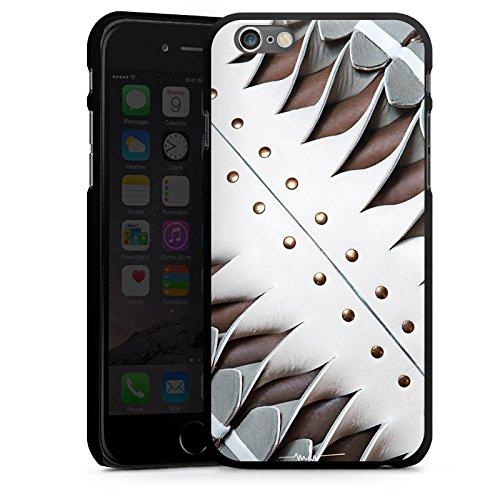 Apple iPhone 5 Housse étui coque protection Boucle Cuir Bandes CasDur noir