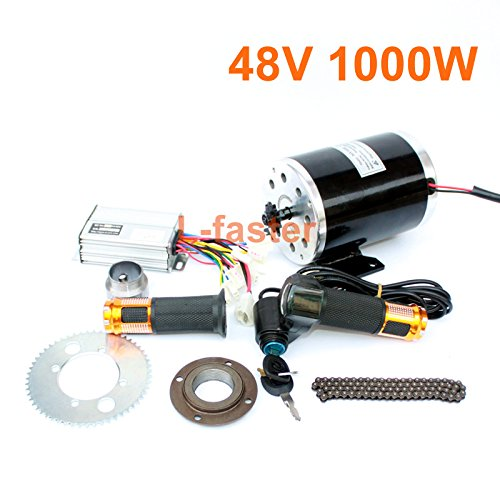 L-faster 1000W Electric Motorcycle Motor Kit Use 25H Chain Drive High Speed Electric Scooter Replacement Electric Karting Conversion kit (48V twist kit) (1000 Watt Scooter Motor)