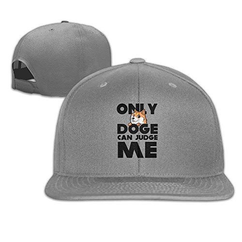 fboylovefor Only Doge Can Judge Me Unisex Causal Fitted Flat Bill Boarder  Cap for Men and 72a4236bbb3