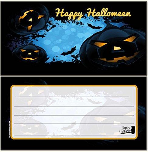 Halloween Grusel-Party HalloweenParty Blanko leer zum selbst beschriften Einladung Erwachsene Kinderrgeburtstag Geburtstag gruselig Karten 12 Karten (Halloween-party-einladung Text)