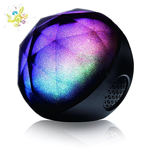 VersionTech Bluetooth Lautsprecher MagicBox Tragbar Drahtlos Wireless Speaker  mit Bass und  Lichteffekt LED Beleuchtet Fernbedienung TF Card Steckdose