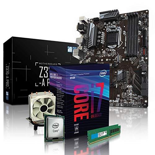dercomputerladen PC Aufrüstkit Intel i7-8700K 6x3.7 GHz - 16GB DDR4, Intel UHD Grafik 630-1GB, Mainboard Bundle, Tuning Kit, für Spiele und Office geeignet