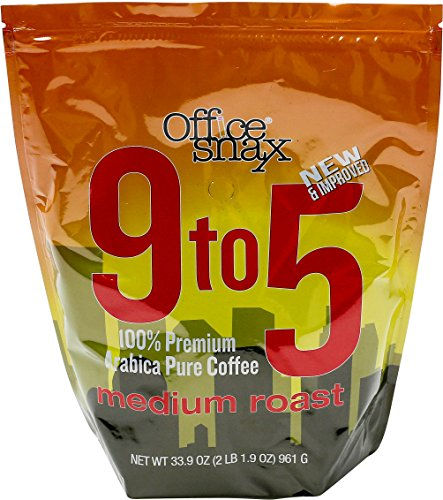 Office Snax OFX00058 9-to-5 Pure Arabica Coffee, Original Blend (1 Can) 510EV22mp L