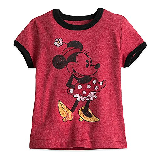 Disney Minnie Mouse Classic Ringer Tee for Girls Size XXS (2/3) -