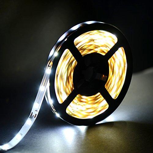 LED Ruban Bande LED - SMD Adhésif Kit de Ruban LED (5m) 2835 300 LEDs 10W Lumière Blanc Brillant 12 V Décoration Intérieure, Eclairage Design et Moderne Salon, TV, Bar, meubles…Duractron