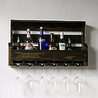 ZEZE-Red Wine Wall Wine Rack Wine Rack kitchen engraving WOODEN