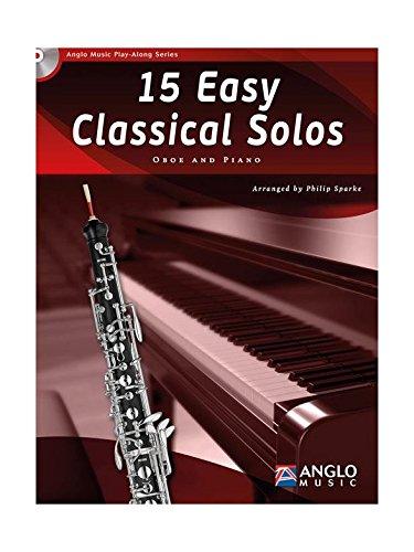 15 Intermediate Classical Solos. Oboe and Piano