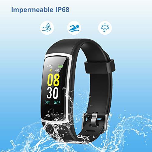 Imagen de yamay pulsera de actividad inteligente impermeable ip68 con 14 modos de deporte,pulsera inteligente con pulsómetro, blood pressure, sueño,podómetro,pulsera deporte para android y ios teléfono móvil alternativa