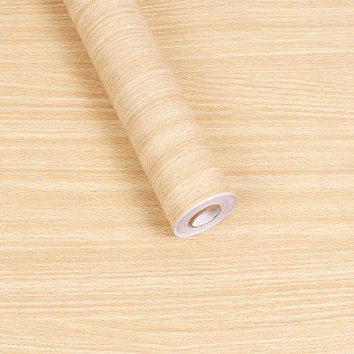 serung Selbstklebende Tapete Gestreiften Schlafsaal Schlafzimmer Dekoration Tapete Tapete Pvc Dicke Wasserdichte 3D Tapete Gelbes Hemd Holz ()