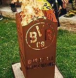 Garten Himmel BVB Borussia Dortmund Feuerkorb eckig