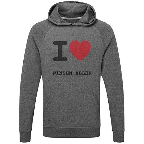 JOllify WINSEN ALLER Funktions Pullover Hoodie mit hochwertigem Druck für Sport und Freizeit - Größe: S - Farbe: grau charcoal