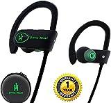 Auriculares Bluetooth, alegre corazón (jh-800) deporte inalámbrico auriculares, IPX7100% impermeable, sonido de primera calidad con Graves, cancelación de ruido, diseño ergonómico, ajuste seguro, la funda con cremallera, 7horas de autonomía con micrófono y Youtube Tutorial...