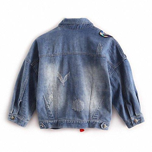 Frauen Frühling und Herbst Mantel Schwere Stickerei Patch Knospe Jacke Schmetterling Quaste kurzen Jeans picture color