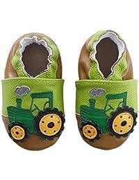 200cf356ee93d Chausson Cuir Souple Bébé Chaussures Enfant Dessin Animé Fille Garçon ...