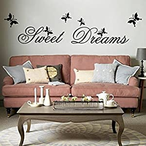 Sweet Dreams DIY Removable Art Vinyl Quote Wall Sticker Decal Mural Home Room D¨¦cor by FullDream