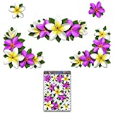 Multi PLUMERIA Twin Bunches Animal Large Vinyl Decal Pack For Laptop Luggage Bicycle Bike Caravans Van Camper Trucks /& Boats ST00047MC/_3 JAS Stickers/® FLOWER Frangipani Butterfly Car Sticker