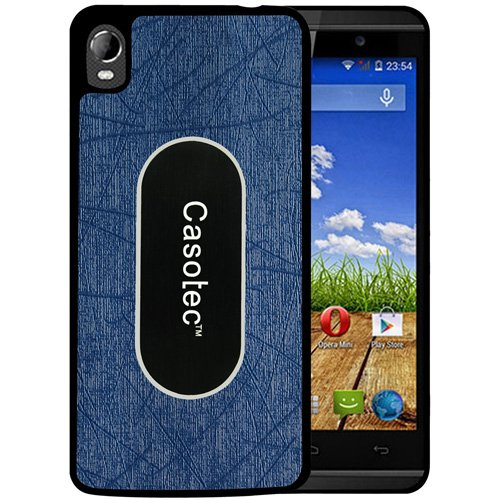 Casotec Metal Back TPU Back Case Cover for Micromax Canvas Fire A104 - Dark Blue  available at amazon for Rs.149