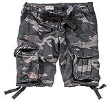 Surplus Hombres Airborne Vintage Pantalones Cortos Lavado Black Camo tamaño M