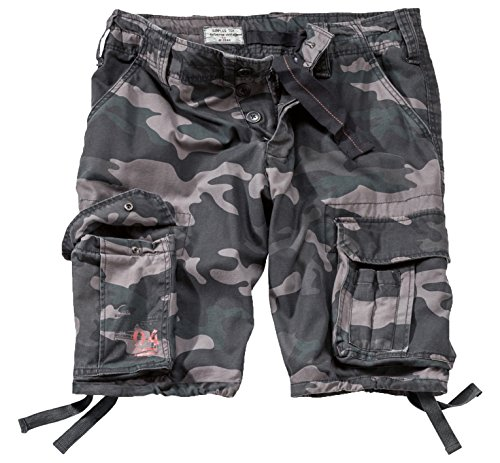 Surplus Uomo Airborne Vintage Pantaloncini Lavati Black Camo taglia M