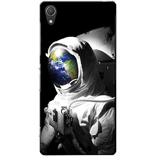 Astronautenanzug & Spiegelbild der Erde Hartschalenhülle Telefonhülle zum Aufstecken für Sony Xperia Z2