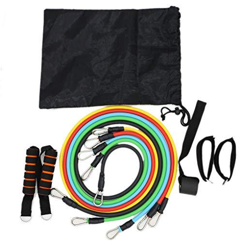11PCS / Set Latex-Widerstand-Bänder Crossfit Training Exercise Yoga Tubes Ziehen Seil Gummi Expander Elastische Bänder Fitness fgyhty