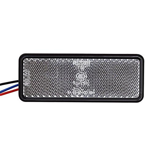 TrifyCore LED-Warnlicht für Motorrad, Rücklicht, ATV, rechteckig, Rücklicht, Weiß