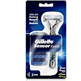 Gillette Sensor Excel Razor With 2 Replacement Sensor Excel Cartridges and 1 Replacement Sensor3 Cartridge