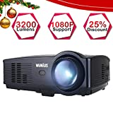 Proyector Full HD, Proyectores LED 3200 Lúmenes 1080P Proyector Video...