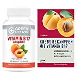 Green Offizin Vitamin B17 + Buch | 1000 mg BIO Aprikosenkern-Extrakt pro Tagesdosis + 160 mg...