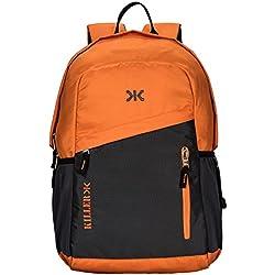 KILLER Polyester 29 Ltr Orange & Grey Laptop Backpack