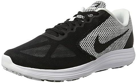 Nike Herren Revolution 3 Traillaufschuhe, Schwarz (White/Black), 46 EU