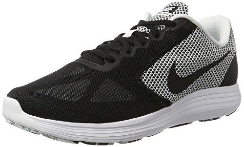 Nike Men's Revolution 3 Running Shoe, Scarpe Sportive Indoor Uomo Nero (White/black)