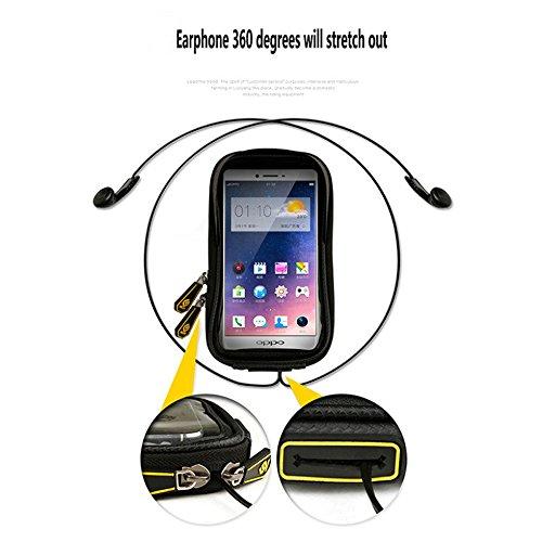 Radfahren Fahrrad Fahrrad Rahmen Pannier Sattel Front Tube Tasche Double Pouch Bag Halter, mit 6,0 / 6,2 Zoll Touchscreen Fall Schwarz