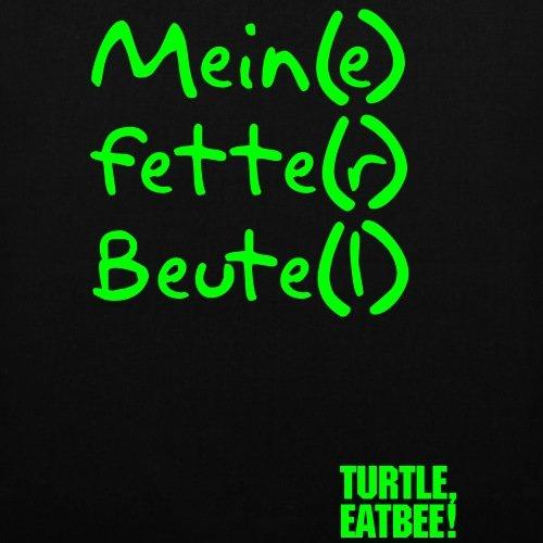 Spreadshirt Fette Beute Fetter Beutel Stoffbeutel Schwarz