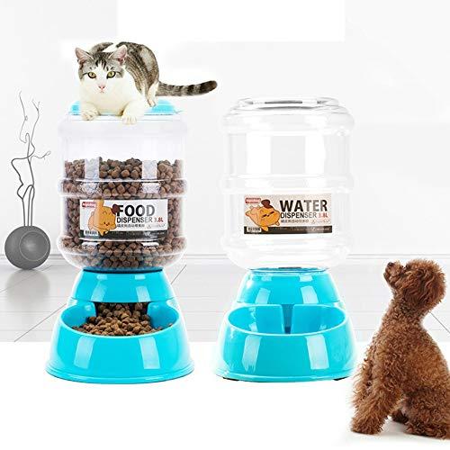 3,8 l automatische Trinkbrunnen Wasserspender Lagerung Feeder Dog Supplies blau