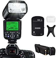 ESDDI I-TTL Flash Speedlite per Nikon, Kit Flash professionale con trigger flash wireless, 1/8000 HSS Wireless Flash Speedlite GN58 2.4G Master slave wireless radio per Nikon DSLR (Flash Nikon)