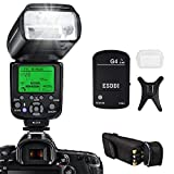 ESDDI Nikon Blitzgerät, 1/8000 HSS Wireless Flash Speedlite GN58 2.4G Funk Master Slave für Nikon, Professional Blitz Kit mit Wireless Flash Trigger