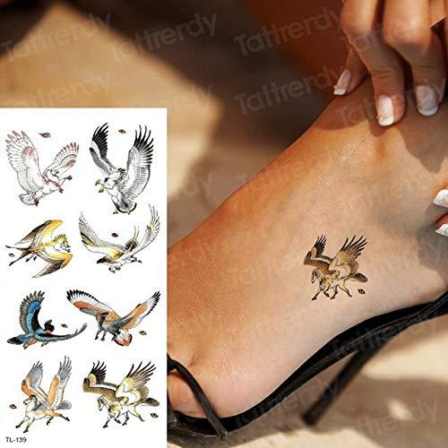 Handaxian 3pcsDragon Flügel Frau Wasserdicht Tattoo-Aufkleber Tattoo Body Art Tribal Tattoo Design