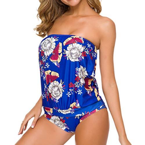 11bc976cf3f307 ☂Eaylis Bustier Femme Maillot De Bain 1 Pièce Bikini Costume De Plage  Grande Taille Bikini à Taille Haute Et Tube à Imprimé Conservateur