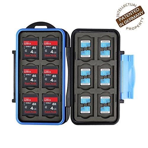 Flashwoife Turtle-SD12MSD24 caso per schede di memoria per la protezione di 12 pezzi SDHC + 24 pezzi MicroSD - Cassetta di sicurezza estrema Impermeabile e antiurto borsa custodia