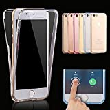 #10: Aeoss iPhone 7 FULL BODY Case Protect Transparent TPU Silicone Flexible Soft full Body Protective Clear Case Cover for 7