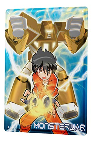 LEotiE SINCE 2004 Plaque en Métal Métallique Poster Mural tin Sign Amusant Décoration De Cuisine Guerre Manga Robot Monster Metal Plates 20X30 cm