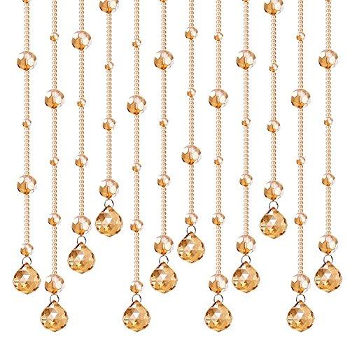 ZYCLSSRV Crystal perlenvorhang,Dekorative tür zeichenfolge Vorhang perlen Champagner -B 47inch