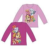 Paw Patrol Girl AUSWAHL Pullover Langarm Shirt T-Shirt Sweatshirt (2 Jahre, Rosa)