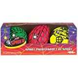POOF-Slinky - Spider Foam 6-Inch Football, 4-Inch Basketball and 4-Inch Soccer Ball Mini Sport Pack, 3-Pack, Assorted Colors, 643BL by Poof (English Manual)