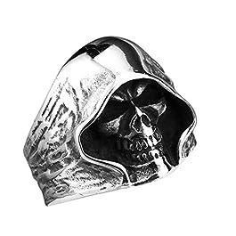 Beito Anello del Partito di personalità Uomo Anelli del Cranio Design Punk degli Anelli di Halloween Cranio Gioielli…